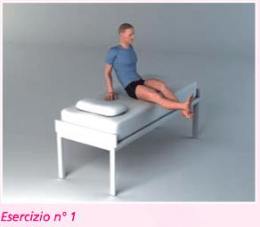 esercizio 1 per la riabilitazione protesi ginocchio