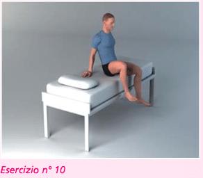 esercizio 10 per riabilitazione protesi ginocchio nella flessione
