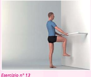 esercizio 13 per riabilitazione ginocchio nella flessione