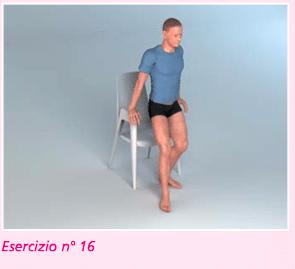esercizio 16 per riabilitazione ginocchio nella flessione