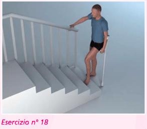 esercizio 18 sulle scale per riabilitazione ginocchio