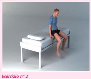 esercizio 2 per la riabilitazione protesi ginocchio