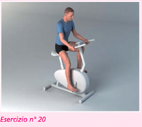esercizio 20 riabilitazione protesi ginocchio con cyclette