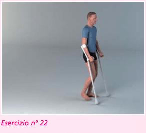 esercizio 22 per riabilitazione protesi ginocchio