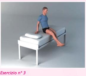 esercizio 3 per riabilitazione protesi ginocchio nella flessione