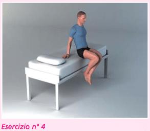 esercizio 4 per la riabilitazione protesi ginocchio recupero flessione