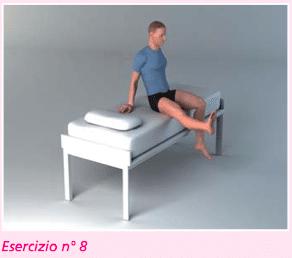 esercizio 8 per la riabilitazione della protesi di ginocchio