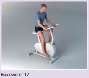 Esercizio 17 la cyclette per riprendere a camminare dopo protesi anca