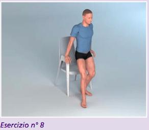 Esercizio 8 per la riabilitazione protesi anca